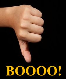 Booo! Thumbs Down!
