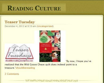 Reading Culture Blog