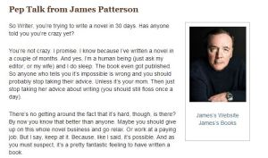 James Patterson Pep Talk