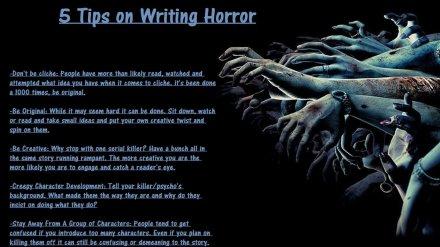 writingtips Horror writing amwriting