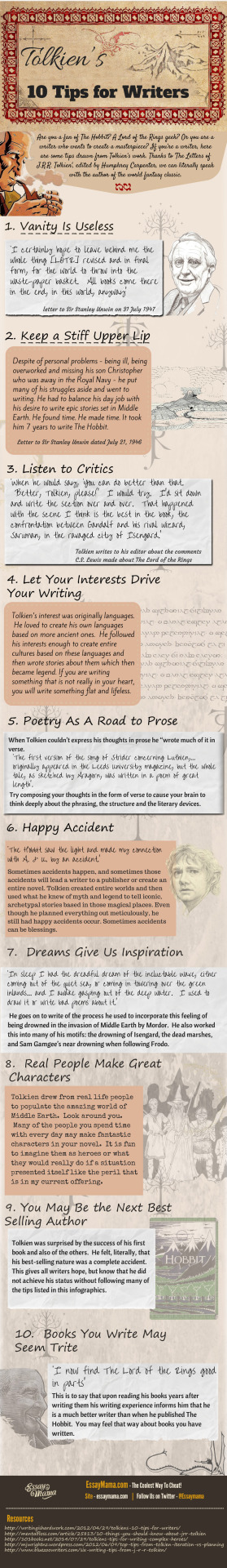 tolkien writingtips amwriting